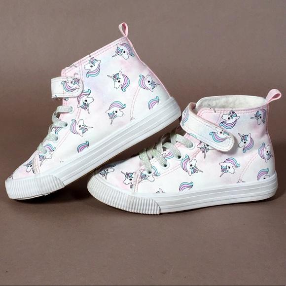 Kids Hm Unicorn Sneakers Hightop Shoes
